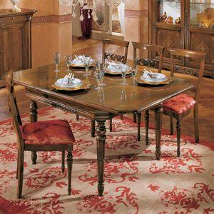 I Dogi di Venezia DOGI-E608, Quadratischer ausziehbarer Tisch im klassischen Stil
