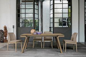 MACISTE 180 TA500, Tisch in Nussbaum oder Eichenholz