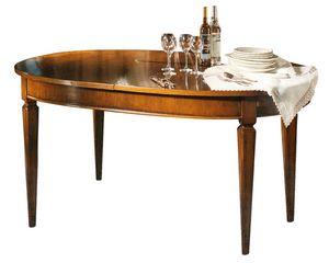 Metz VS.5525, Louis XVI ovaler ausziehbarer Tisch