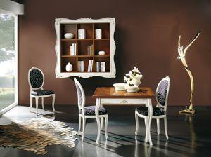 Napoleone ausziehbarer Tisch, Quadratischer ausziehbarer Tisch