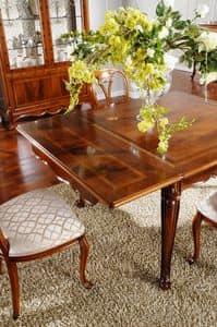 OLIMPIA B / Rechteckiger Tisch, Klassischer Tisch in Holz geschnitzt, für Esszimmer