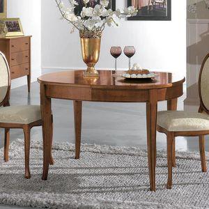 Ovaler Tisch RAFFA590, Ausziehbarer ovaler Tisch
