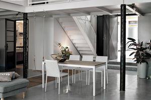 PERIGEO 115 TA161, Tisch mit Metallsockel, Laminat, moderner Stil