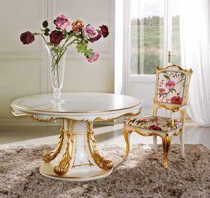 Runder Tisch Delizia, Luxuri�ser erweiterbarer runder Tisch