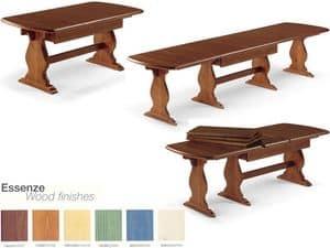T/700, Erweiterbar rechteckigen Tisch, für Vertrags-und Wohnbereich