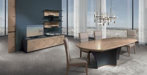 TA64K Desyo Tisch, Ausziehbarer Tisch mit eingelegter Spitze