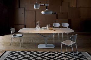 ARISTON, Ausziehbarer oder fester Tisch mit Glas- oder Keramikplatte