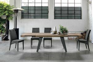 SCIROCCO TA1C0, Ausziehbarer Tisch mit Laminatplatte