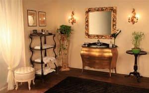 Art. 3110, Möbel aus massivem Holz Badezimmer, Glasplatte