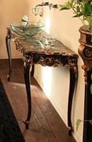 Art. 901-SH Clara, Badezimmermöbel, aus Buchenholz, Marmor