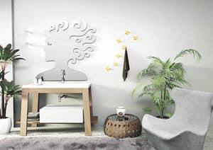 Bath Table 02, Zusammensetzung für das Bad, in Asche, integrierte Becken