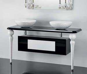 DECO FURNITURE, Die Möbel für die Badezimmer mit den Beinen in Keramik