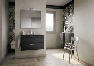 Dressy comp.03, Eleganter Badezimmerschrank mit Schubladen