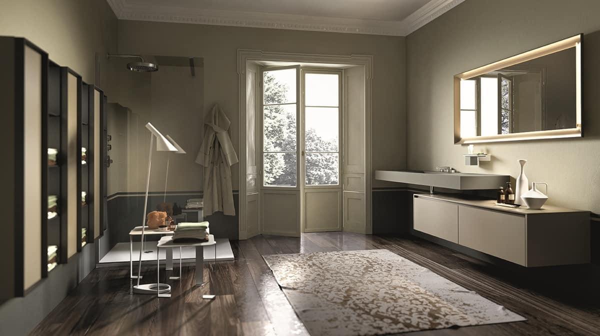 Badezimmer-Konsole in der laminierten Keramik  IDFdesign
