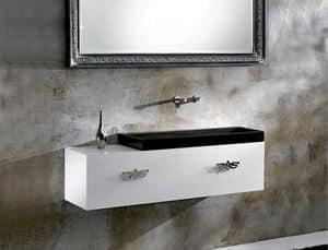 M35 FURNITURE, Möbel für das Badezimmer, matt oder glänzende Finish