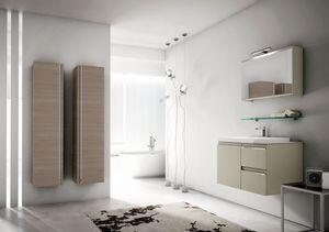 Mistral comp.07, Badezimmermöbel mit großen hängenden Behältern
