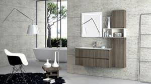 Torana TR 004, Möbel mit Waschbecken, mit tranche Finishing, verschiedene Größen