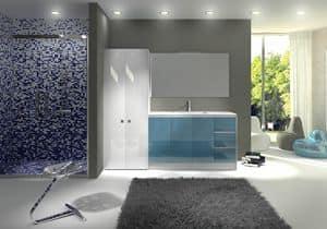 TR 012, Möbel mit Waschbecken, oben mit Beton Fertig