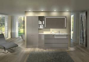 Torana TR 013, Glänzend lackierten Möbeln für Bad, modular
