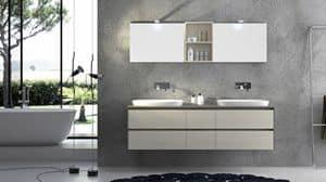 Torana TR 001, Möbel mit 2 Waschbecken, mit tranche oben