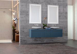 Byte 2.0 comp.10, Badezimmerschrank mit Doppelwaschbecken und Doppelspiegel