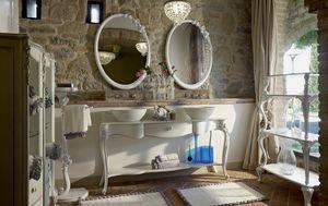 Carpi Badezimmermöbel, Badezimmermöbel im klassischen Stil mit zwei Waschbecken