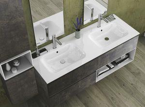Torana TR 022, Badezimmerschrank mit zwei Waschbecken