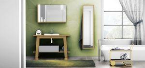 Bath Table 05, Badezimmerschrank, mit Spiegel mit Regal