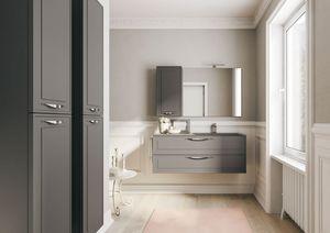 Dressy comp.01, Badezimmermöbel, mit traditionellem Stil