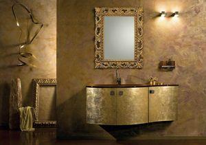 Glamour Oro AM37, Badezimmerschrank aus Gold