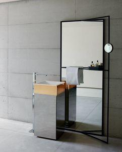 Upndino 421, Platzsparender Spiegel und Waschbecken