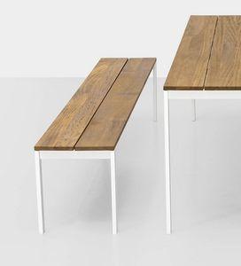 Be-Easy slatted bench, Außenbank mit Teakholzlatten