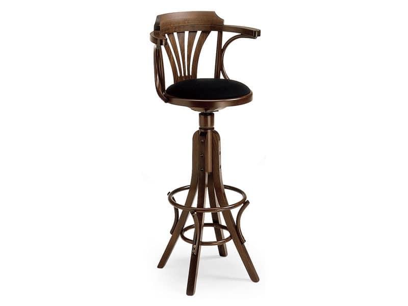 SG600/G, Hocker aus gebogenem Holz für Bars und Pubs