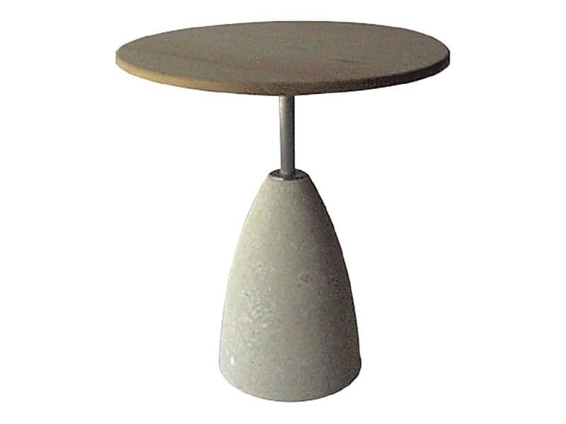 Element 1, Steintisch mit Holzplatte, für Bars und Pubs