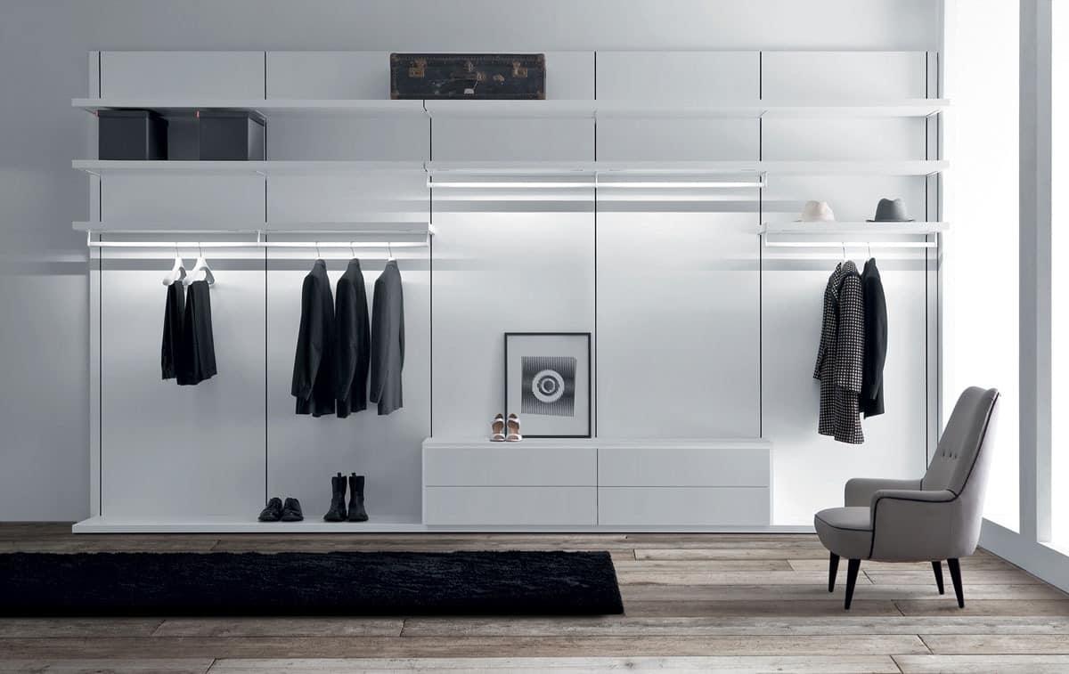 Anteprima closet, Moderne begehbare Kleiderschränke, Kleiderschrank
