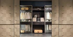 AR27 Galileo Kleiderschrank, Modularer begehbarer Kleiderschrank mit Glaselementen