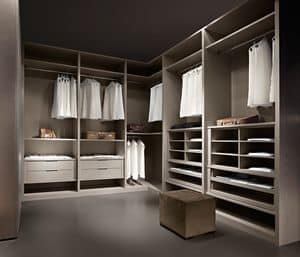 ATLANTE Begehbarer Kleiderschrank comp.04, Moderner Begehbare Kleiderschrank Bettzimmer