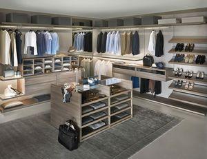 Panorama, Eleganter modularer begehbarer Kleiderschrank
