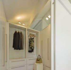 Umkleideraum 01, Umkleideraum, weiß lackiert, mit Baukastensystem von Möbeln für den häuslichen Räumen