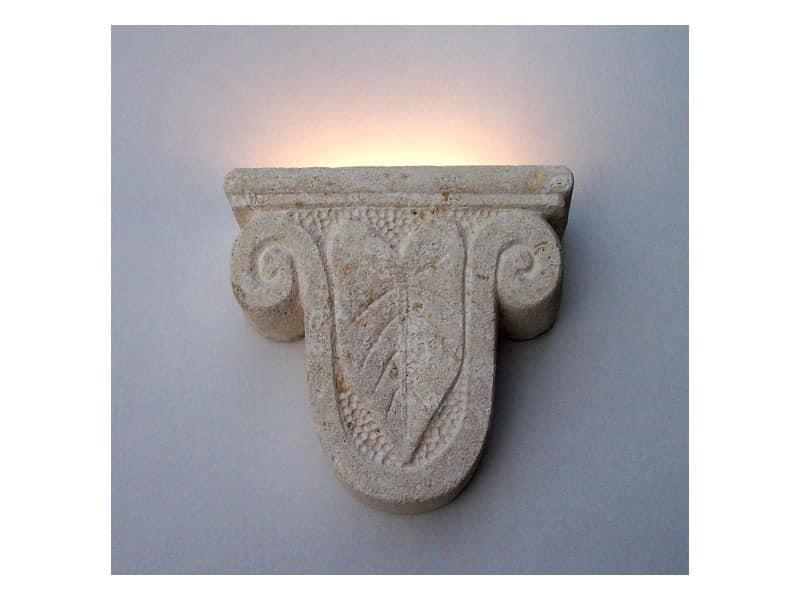 Ariete, Wandleuchte, Form eines Widderkopf aus Stein