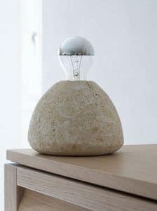 Bulb, Stehlampe, in Stein, für das Studium und das Haus