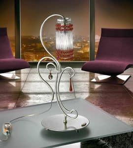 Casanova table lamp, Lampe in der Hand-geschmiedetem Metall, für moderne Büros