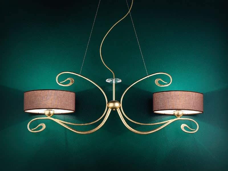 Charme applique, Klassische Wandleuchte aus Schmiedehandgefertigten Metall