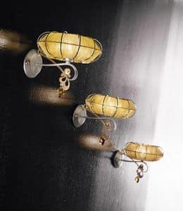 Dream applique, Lampe aus lackiertem Metall, Diffusoren in verschiedenen Ausführungen