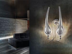 Ego applique, Wandleuchte aus Messing mit 2 Lichter, klassischen Stil