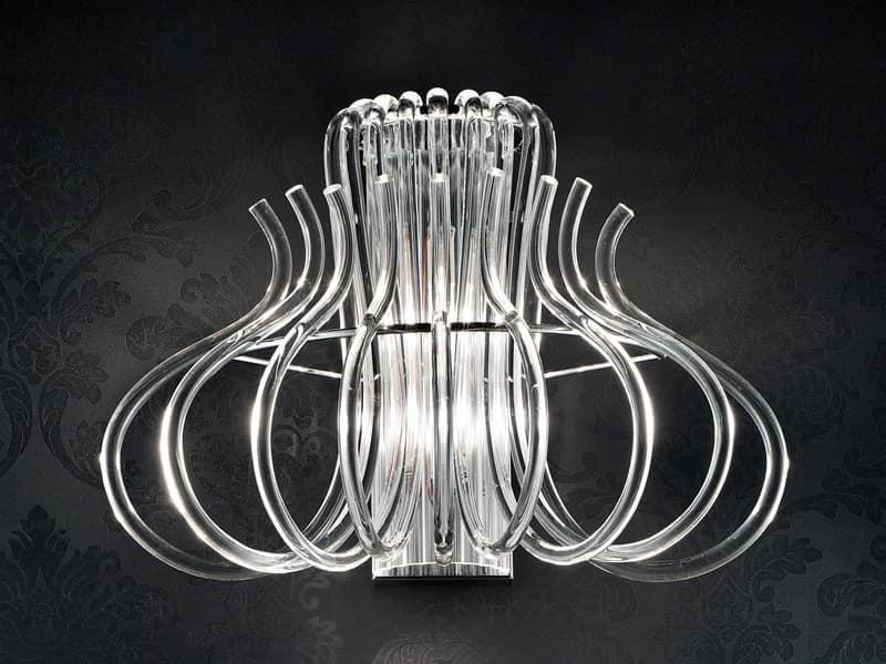 Essenzia applique, Moderne Applikationen in Chrom-Metall und Murano-Glas