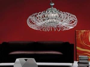 Essenzia Kronleuchter, Kronleuchter mit Kristall-Diffusoren, für Klassiker Wohnzimmer