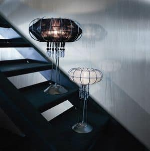 Full Moon table lamp, Lampe mit Metallrahmen, verschiedenen Ausführungen