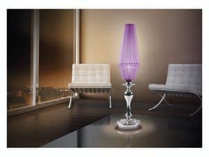 Karma table lamp, Schreibtischlampe mit 1 Licht, Chrom Glas Lichtschalen