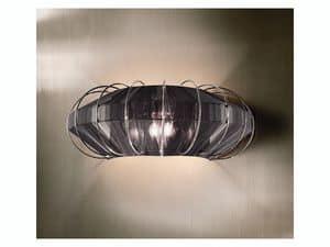 Moon applique, Elegante Lampe in Schmiedeeisen, für Hotelzimmer